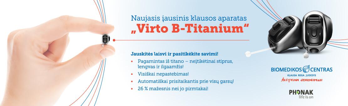 Klausos aparatas Viro B Titanium
