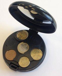 Euro monetų dėžutė