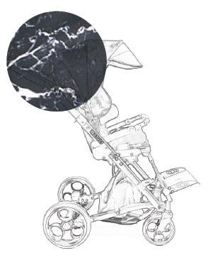 Marmuro vežimėlio spalva