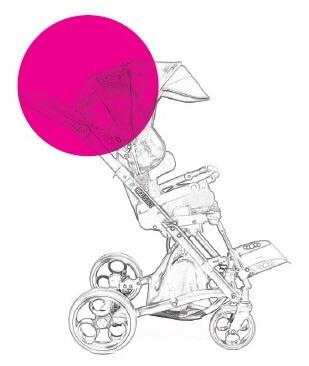 Rožinė vežimėlio spalva