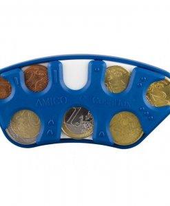 Euro monetų piniginė su brailio raštu