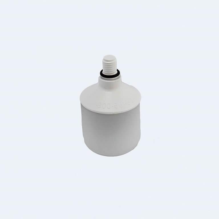 Teleskopinės lazdelės cilindrinis antgalis