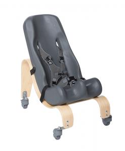 Vaikiša kėdutė SOFT-TOUCH SITTER su medine mobilia baze