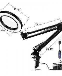 LED šviestuvas su išmatavimais